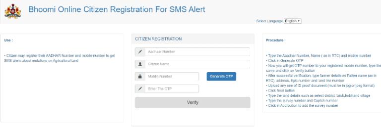 Bhoomi Karnataka Registration Procedure