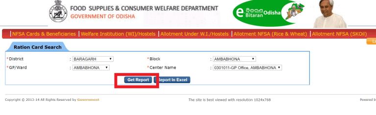 Odisha Ration Card List