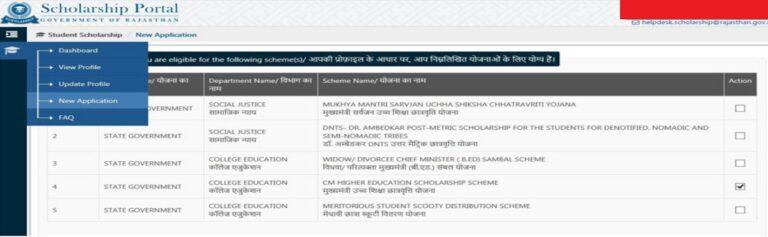 राजस्थान स्कूटी वितरण योजना ऑनलाइन पंजीकरण (Apply Online)