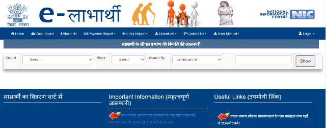 Process To Check Life Certificate Status Elabharthi Bihar
