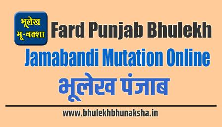 (PLRS) Bhulekh Punjab 2021: Online Land Records, Jamabandi, Fard
