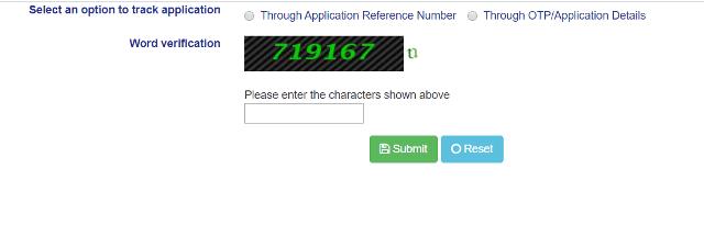Procedure to check application status: