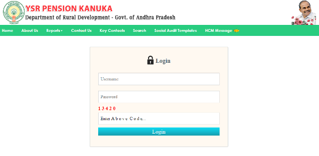 YSR Pension Kanuka Process To Do Login On The Portal