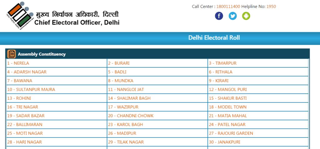 सीईओ दिल्ली वोटर लिस्ट विथ फोटो 2021 डाउनलोड करने कि प्रक्रिया