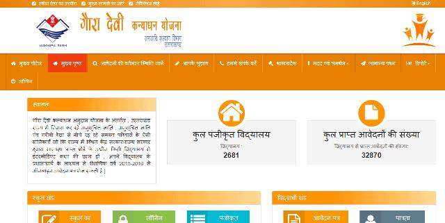 गौरा देवी कन्या धन योजना का आवेदन करने की प्रक्रिया