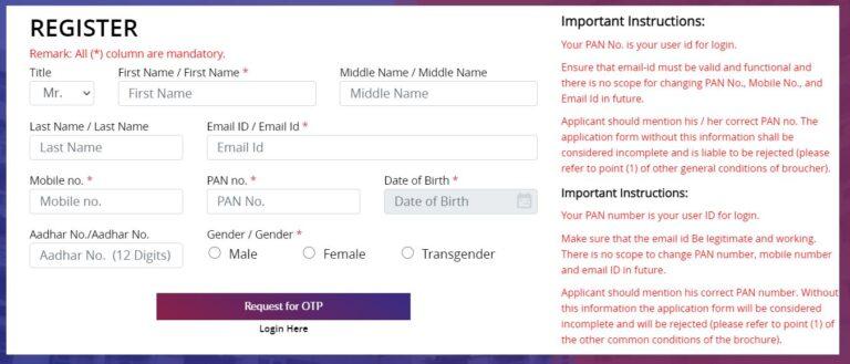 DDA Housing Scheme Online Registration