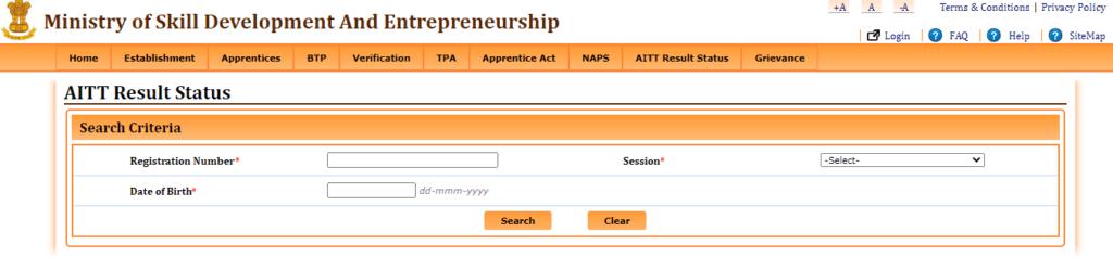 Process To View AITT Result Status