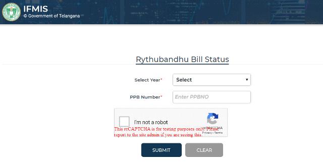 Rythu Bandhu Scheme Application Status