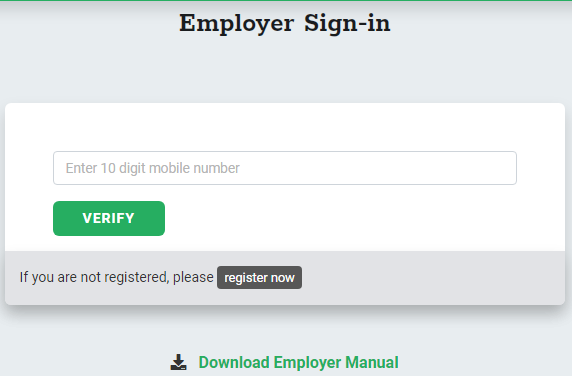 Process To Do Registration As Employer