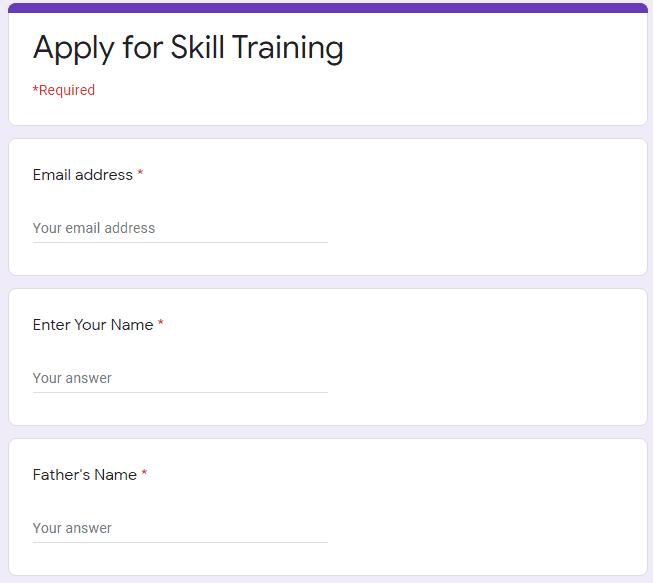 Online Apply For Skill Training Under Punjab Ghar Ghar Rozgar Yojana