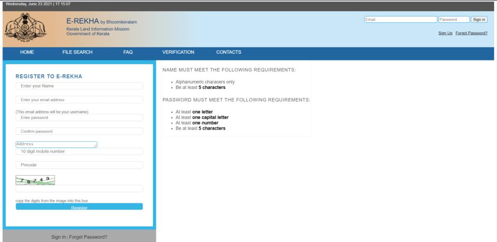 Registration Procedure Under Kerala Land Records