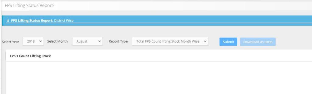 जिलावर एसपीएस लिफ्टिंग स्टेटस रिपोर्ट देखने की प्रक्रिया