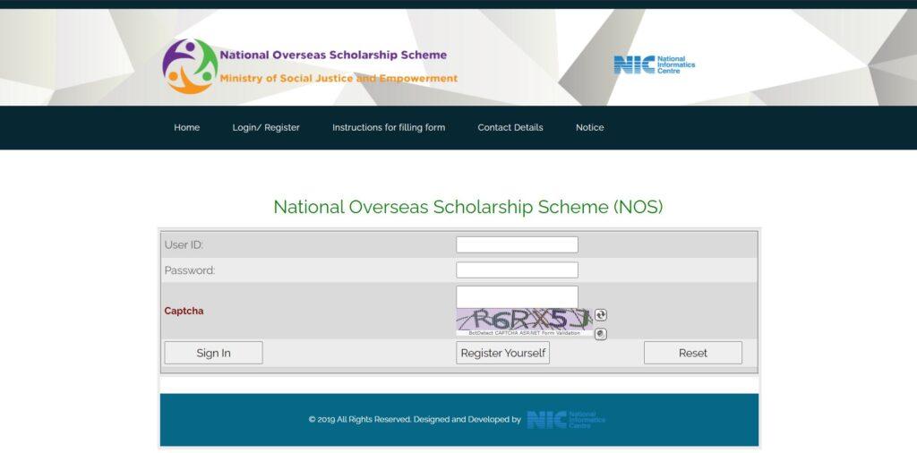 Application Procedure Under National Overseas Scholarship